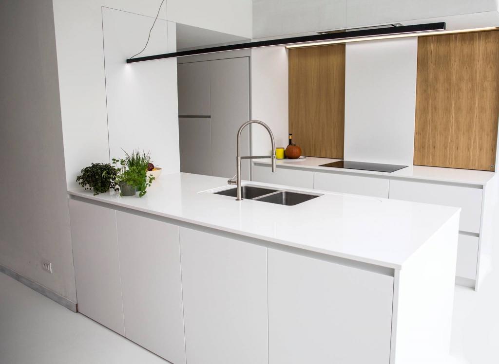 Moderne Witte Keukens : Moderne witte keuken pl65 belbin.info